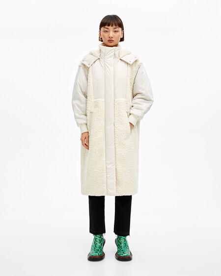 bimba y lola abrigo borrego mujer