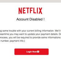 Cuidado si te llega un email de Netflix, podría ser una estafa para robar tus datos bancarios