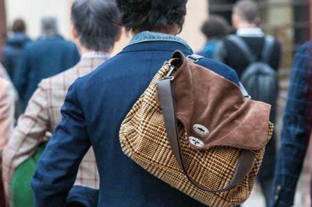 mochila estampado principe de gales