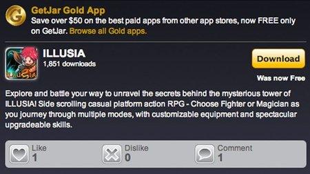 Getjar Gold: aplicaciones Android con costo disponibles gratis legalmente