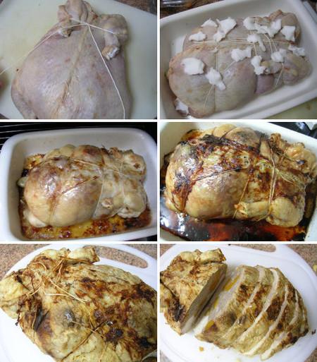 Cocinado pollo relleno