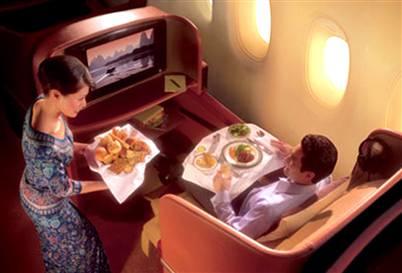La imagen de la semana: pantallas de alta resolución en Singapore Air