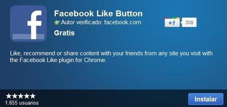 Facebook lanza botón de Me Gusta para Chrome