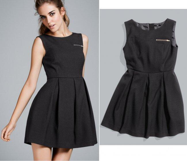 Vestido negro Catálogo HM otoño 2011