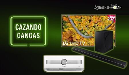 Aire acondicionado Bosch al 60% de descuento, purificadores, televisores, barras de sonido y más: Cazando Gangas
