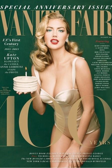 El look pin-up de Kate Upton se apodera del número del centenario de la revista Vanity Fair