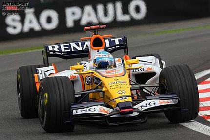 Fernando Alonso supera a los favoritos en Interlagos