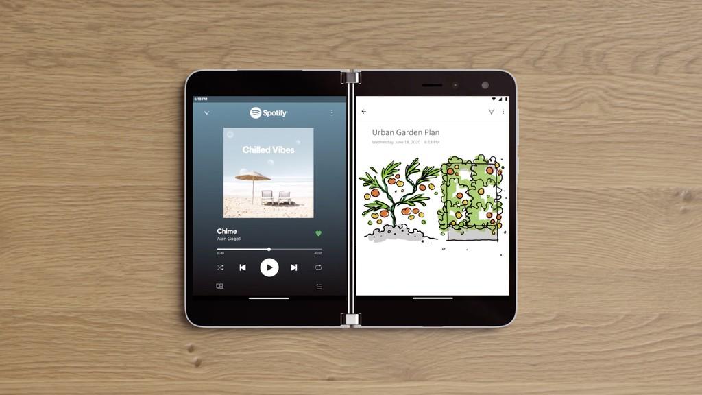 Este es el Surface Duo: un iPad mini con bisagra y Android 10 con el software como gran incógnita