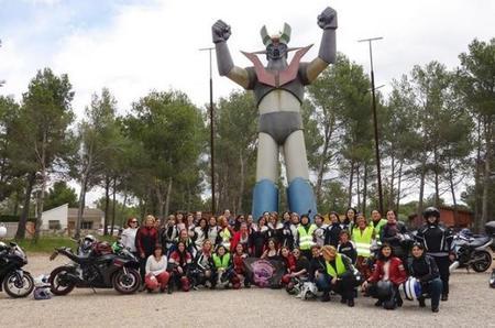 Una de las quedadas de Motociclismo Femenino
