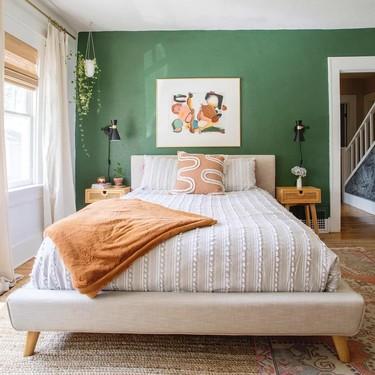 Antes y después: pintura, mobiliario, orden y textiles para un dormitorio totalmente renovado