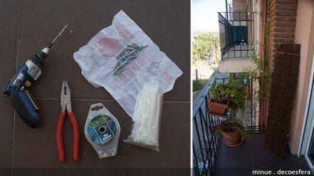 Celosía en la terraza - materiales