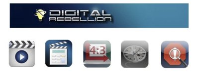 Cinco aplicaciones de Digital Rebellion para editores de vídeo