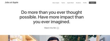 """Apple rediseña su web de empleos e invita a los interesados a """"hacer más de lo que nunca creyeron posible"""""""