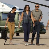 Michelle Obama no tiene reparo a posar con look de campo en el Parque nacional de las Cavernas de Carlsbad