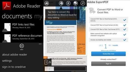 Adobe Reader para Windows Phone 8 se actualiza con soporte para OneDrive y más