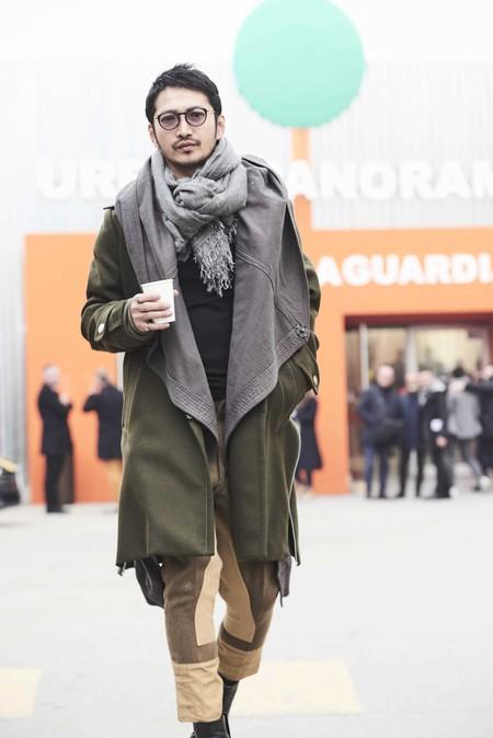 El Verde Militar Se Corona Como El Color Fetiche De Los Primeros Looks Del Street Style De Pitti Uomo 05