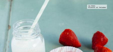 Cupcakes de granola y yogurt helado. Receta para el Día del niño