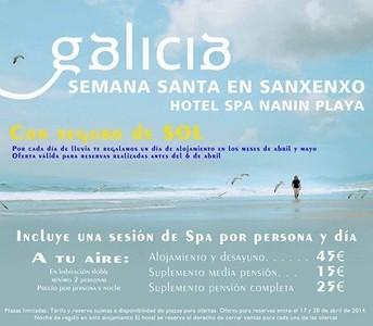 Promociones para Semana Santa: un hotel de Sanxenxo oferta 'seguro de sol'