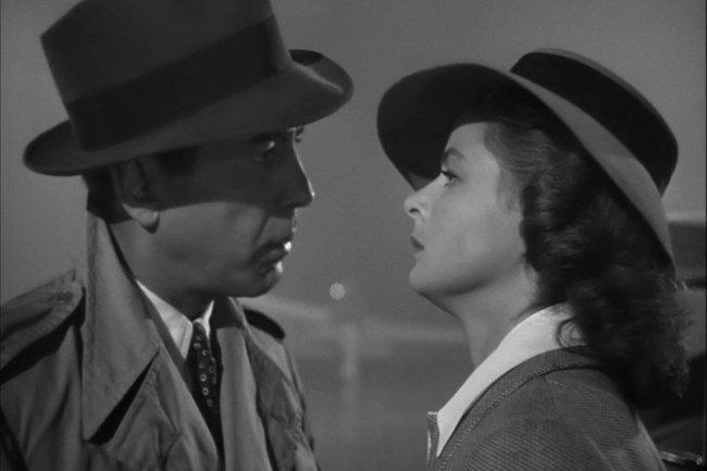 Humphrey Bogart e Ingrid Bergman en el mítico final de Casablanca