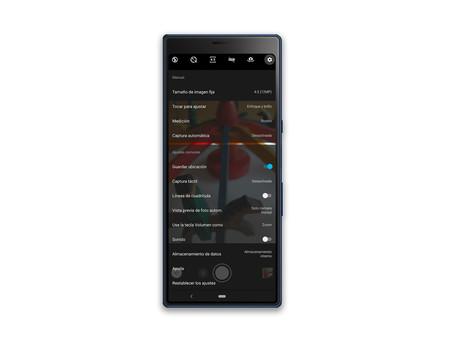 Sony Xperia 10 Plus App Camara Ajustes