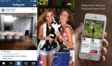 Instagram, Snapchat y Paper