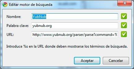 Instalando Yubnub en Google Chrome