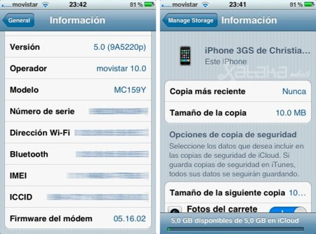 iOS 5 en un iPhone 3GS, primeras impresiones