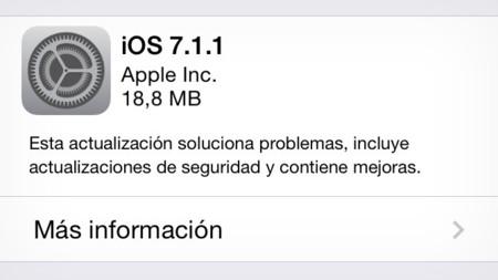 Apple lanza iOS 7.1.1 con mejoras en Touch ID y solución de errores con los teclados Bluetooth