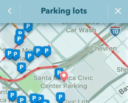 Dónde estacionar Waze