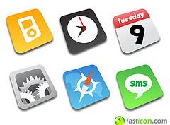 Iconos de FastIcon al estilo iPhone