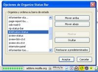 Organize Status Bar, organiza los iconos de la barra de estado de Firefox