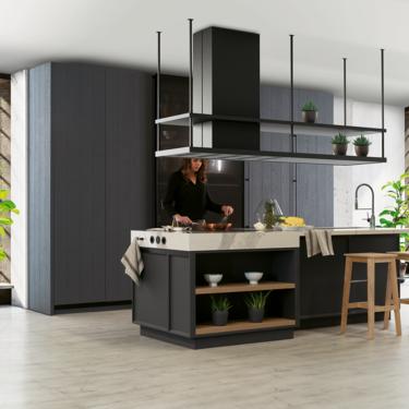 Cocinas en negro. Una (irresistible) tendencia al laza