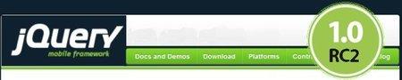 Liberada la Release Candidate 2 de jQuery Mobile 1.0