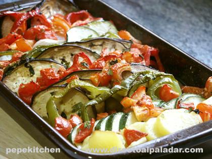 Gratinado de verduras. Receta vegetariana