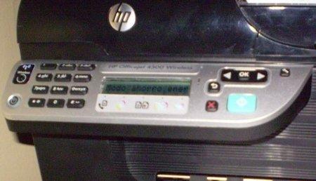 Panel de control de HP 4500 G510n-z