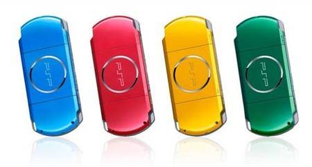 Cuatro nuevos colores para PSP