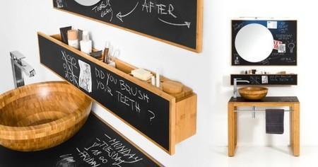 Muebles de baño con pizarra, ¿buena o mala idea?