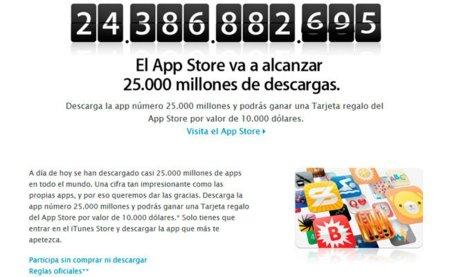 La App Store se acerca a las 25.000 millones de descargas