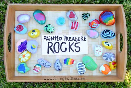 Manualidades Verano Rocas Coloridas