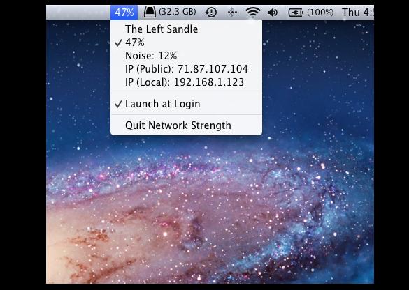 Network Strength, intensidad de la señal WI-FI desde la barra de menú