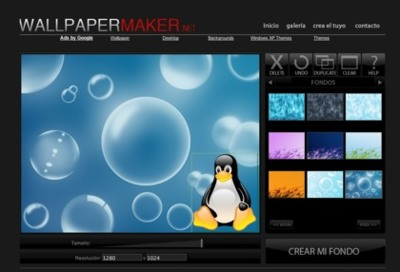 Wallpapermaker.net, creando tus fondos de pantalla