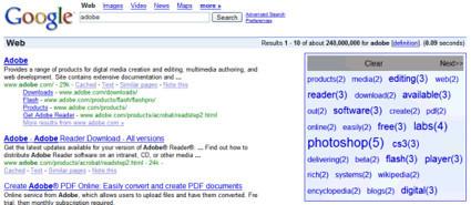 GoogleTagCloudMaker, búsquedas con tags en Google