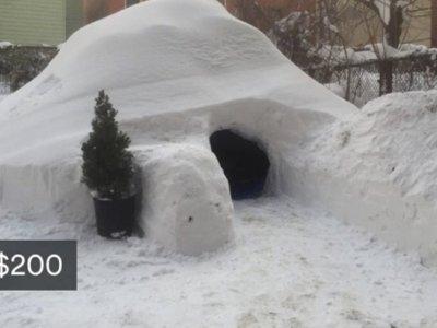 Oferta fugaz: Dormir en un iglú construido con la nieve de Jonas, la última gran tormenta americana