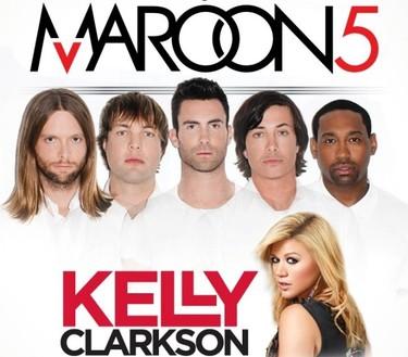 Tremenda idea: Adam Levine y Kelly Clarkson se van de gira juntos