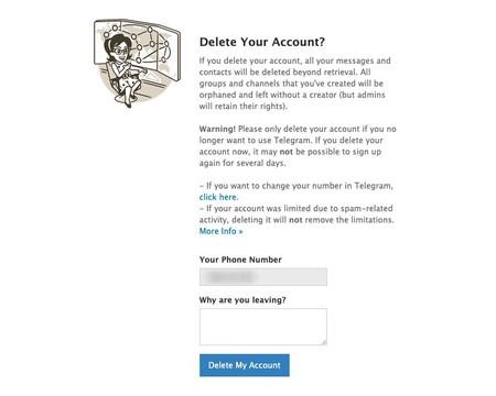 Cómo borrar tu cuenta de Telegram inmediatamente: paso 3