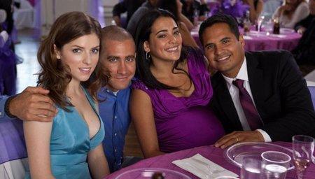 Anna Kendrick, Jake Gyllenhaal, Natalie Martinez y Michael Peña durante el rodaje de Sin Tregua