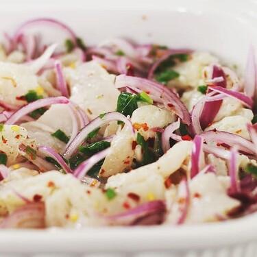 Ceviche de coliflor. Receta vegetariana para este Lunes #SinCarne