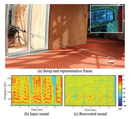 Cualquier objeto puede ser un micrófono: recuperando sonido a partir de un vídeo