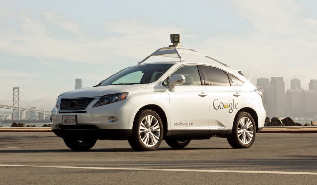 Google Lexus Self-driving car