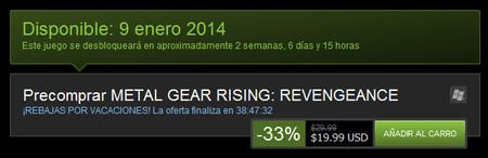 Fecha y precios de Metal Gear Rising 01